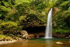 Abaissez les cascades de Tavoro en parc du patrimoine national de Bouma, Taveuni Photo libre de droits