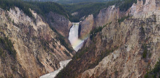 Abaissez les chutes chez Yellowstone Image stock