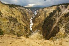 Abaissez les chutes de la rivière Yellowstone, Wyoming Images libres de droits