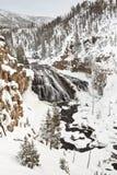 Abaissez les chutes du parc national de Yellowstone Image libre de droits