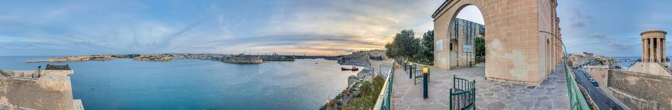 Abaissez les jardins de Baracca à La Valette, Malte Photographie stock