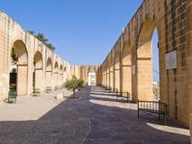 Abaissez les jardins de Baracca, La Valette, Malte, l'Europe Photographie stock