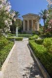 Abaissez les jardins de Barrakka à La Valette Images libres de droits