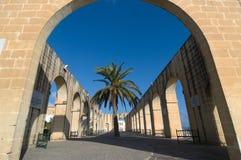 Abaissez les jardins de Barrakka à Valletta, Malte Images stock