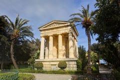 Abaissez les jardins de Barrakka, La Valette Images stock