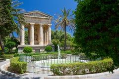 Abaissez les jardins de Barrakka, Malte Photographie stock