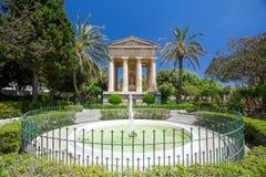 Abaissez les jardins de Barrakka, Malte Image libre de droits