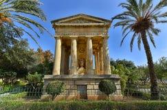 Abaissez les jardins La Valette Malte de Barrakka Images stock