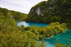 Abaissez les lacs du parc national de Plitvice Photographie stock