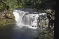 Abaissez Lewis River Falls Images libres de droits