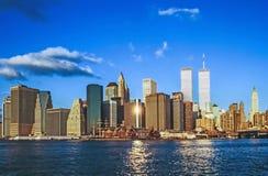 Abaissez mahattan et le World Trade Center Photographie stock