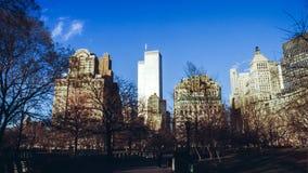 Abaissez mahattan et le World Trade Center Photographie stock libre de droits