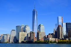 Abaissez mahattan et un World Trade Center Photo libre de droits