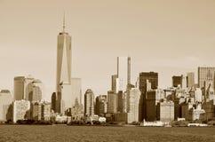 Abaissez mahattan et un World Trade Center Image libre de droits