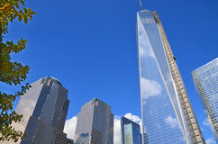 Abaissez mahattan et un World Trade Center Photos libres de droits