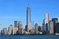 Abaissez mahattan et un World Trade Center Photo stock