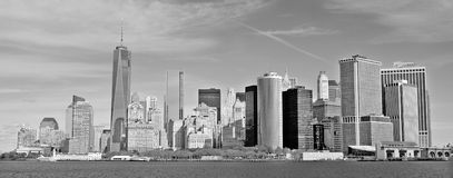 Abaissez mahattan et un World Trade Center Image stock