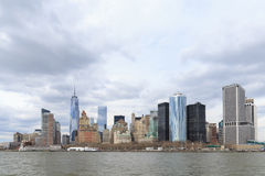 Abaissez Manhattan et un World Trade Center ou Freedom Tower Photo libre de droits