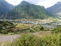Abaissez Pisang, Népal Photos libres de droits