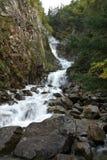 Abaissez Reid Falls, juste extérieur Skagway, AK Photographie stock libre de droits