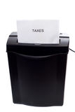Abaixando impostos Fotos de Stock