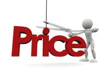 Abaixando o preço Fotografia de Stock Royalty Free