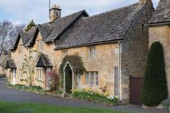 ABAIXE A CHACINA, GLOUCESTERSHIRE/UK - 24 DE MARÇO: Vista cênico de Fotografia de Stock Royalty Free
