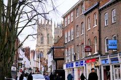 Abaixe Petergate, York Imagens de Stock Royalty Free