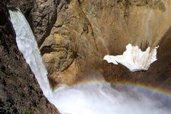 Abaixe quedas e arco-íris Fotos de Stock