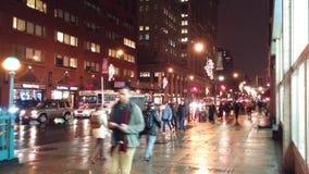 Abaixe a rua de zona leste 14a e o Union Square Foto de Stock