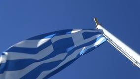 Abaixo da bandeira grega video estoque