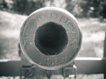Abaixo da guerra civil do furo de Canon foto de stock