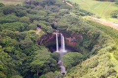 Abaixo das quedas de Wailua Imagem de Stock Royalty Free