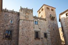 abajo caceres de golfines宫殿西班牙 免版税库存图片