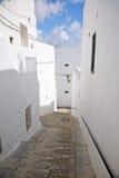Abajo calle en la aldea de Vejer Imagen de archivo