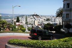 Abajo calle intermedia del lombardo, San Francisco Imagen de archivo