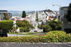 Abajo calle intermedia del lombardo, San Francisco Fotos de archivo libres de regalías