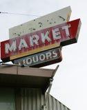 Abajo cerrado mercado Imagenes de archivo