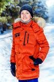Abajo chaqueta para un muchacho Imagen de archivo libre de regalías