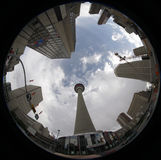 Abajo ciudad Imagen de archivo libre de regalías