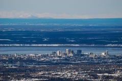 Abajo ciudad Anchorage Fotografía de archivo libre de regalías