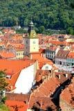 Abajo ciudad, Brasov, Transilvania Fotos de archivo libres de regalías