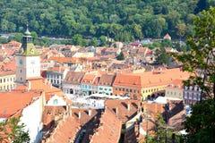 Abajo ciudad, Brasov, Transilvania Foto de archivo