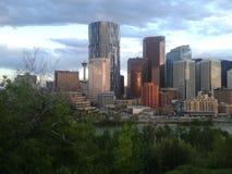 Abajo ciudad Calgary Imagen de archivo