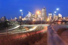 Abajo ciudad Calgary Fotos de archivo libres de regalías