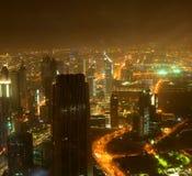 Abajo ciudad de la ciudad de Dubai Imagen de archivo libre de regalías