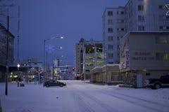 Abajo ciudad Fairbanks Alaska Fotos de archivo libres de regalías