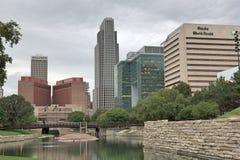 Abajo ciudad Omaha Nebraska Fotos de archivo