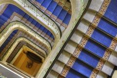 Abajo de la escalera espiral Fotografía de archivo libre de regalías