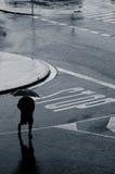 Abajo de la lluvia Fotografía de archivo libre de regalías